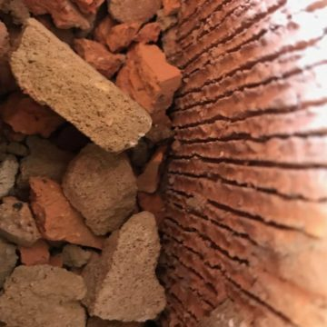 rubble in the cavity wall usually a double skin brick wall